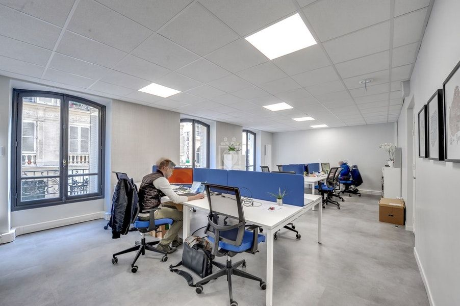 Large modern office open space work stock photo edit now