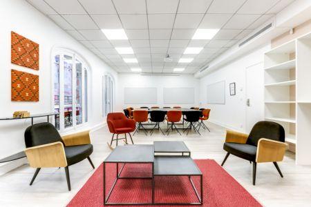 Salle de reunion Paris 9e arr. - Rue de Mogador - métro Chaussée d'Antin-La Fayette - Gare Saint-Lazare - Salle de réunion Lorette - 16 personnes max - Cocoon Mogador