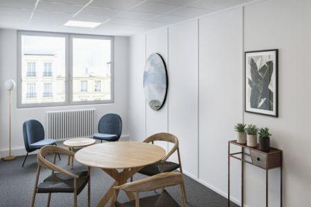 Salle de réunion - 75013 Paris -Rue des Reculettes- Les Gobelins - Salle Rosalie - 3 personnes max - Cocoon Reculettes